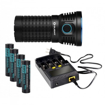 Olight X7 Marauder Flashlight XHP70 9000 lumens Kit CW Batteries and charger