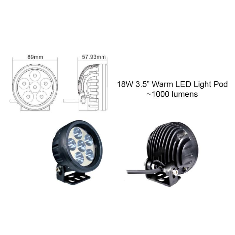 3 5 u0026quot  warm round led light pod  spot beam  - led pods