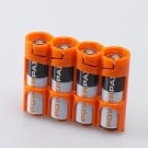PowerPax SlimLine 4 AA Battery Caddy (Orange)