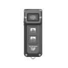 itecore TUP 1000 Lumen Rechargeable Keychain Flashlight (Grey)