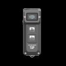 itecore TUP 1000 Lumen Rechargeable Keychain Flashlight (Grey)